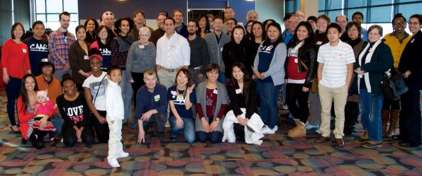 Participants at the Gathering for Media Justice in St Paul, MN
