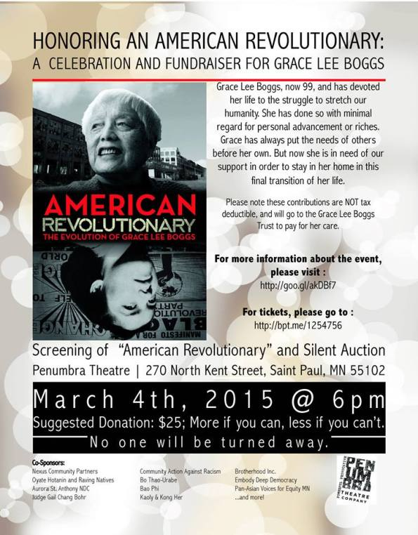 American Revolutionary: A Celebration and Fundraiser for Grace Lee Boggs